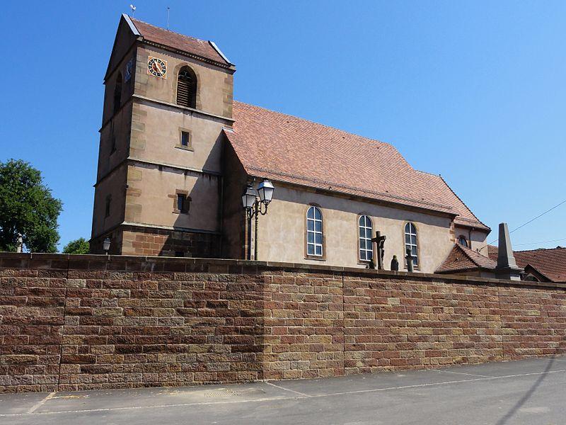 Photo du Monument Historique Eglise catholique Saint-Jacques-le-majeur situé à Lochwiller