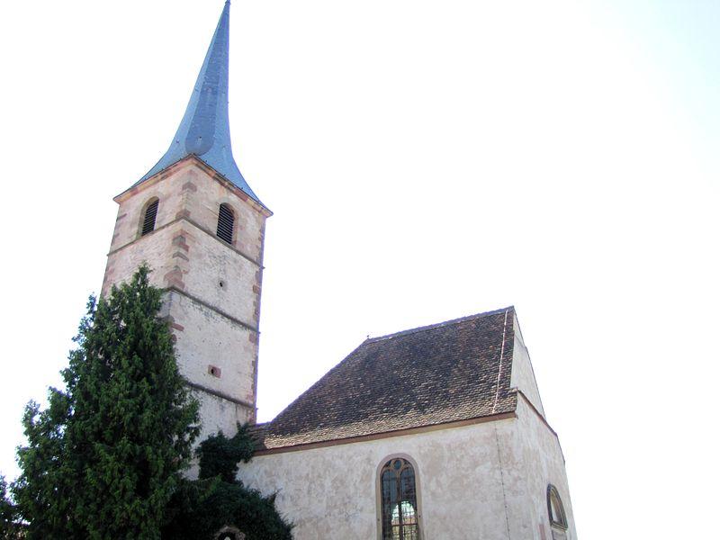 Photo du Monument Historique Ancienne église catholique Saint-André, dite chapelle du cimetière situé à Meistratzheim