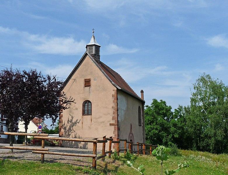Photo du Monument Historique Le Kloesterlé, chapelle de l'ancien prieuré, ou chapelle de la Vierge situé à Mollkirch