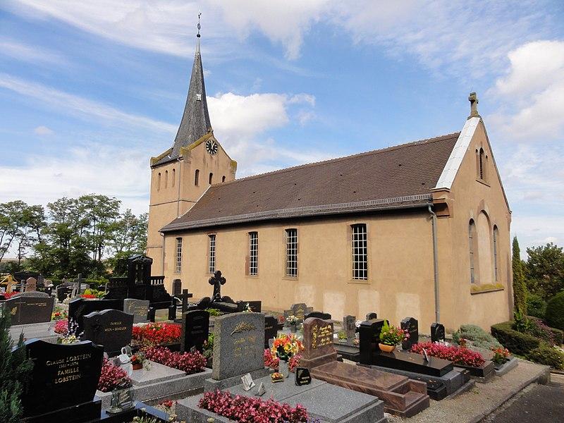 Photo du Monument Historique Eglise protestante situé à Mundolsheim