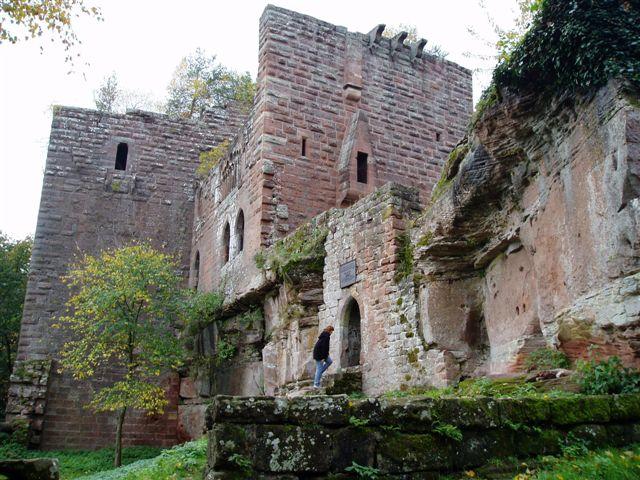 Photo du Monument Historique Ruines du château de Wasenbourg situé à Niederbronn-les-Bains