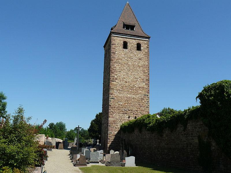 Photo du Monument Historique Le Glockenturm et les deux tours de défense est et ouest situé à Niedernai