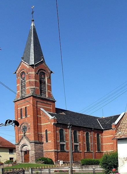Photo du Monument Historique Eglise protestante situé à Obenheim