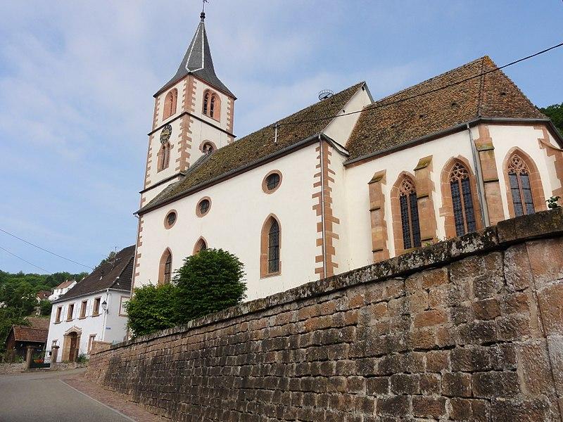 Photo du Monument Historique Eglise mixte d'Oberbronn situé à Oberbronn
