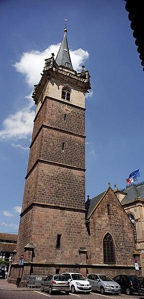 Photo du Monument Historique Beffroi et chapelle dits Kappelturn situé à Obernai