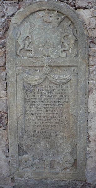 Photo du Monument Historique Cimetière (monument funéraire de Jean-François Melchior) situé à Oberschaeffolsheim