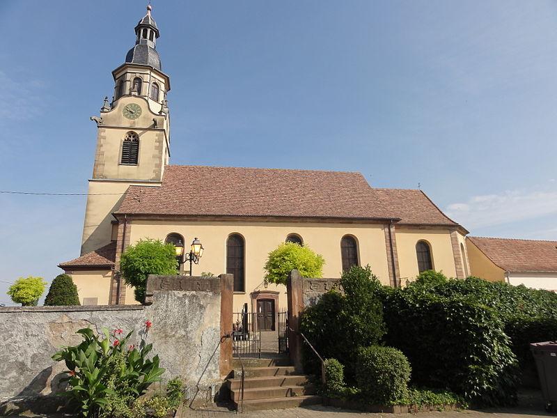 Photo du Monument Historique Eglise catholique Saint-Barthélemy situé à Osthouse
