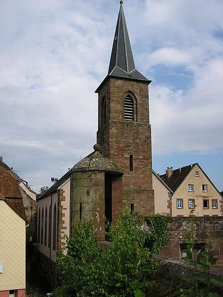 Photo du Monument Historique Eglise mixte de l'Assomption situé à Petite-Pierre (La)