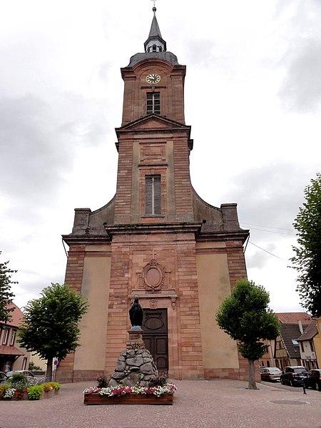 Photo du Monument Historique Eglise catholique Saint-Michel situé à Reichshoffen