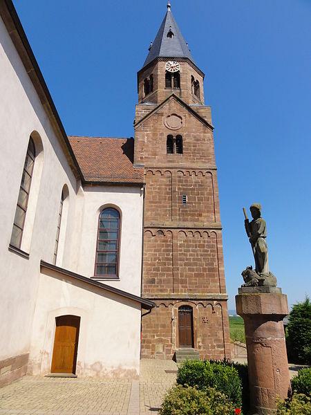 Photo du Monument Historique Eglise catholique Saint-Cyriaque situé à Reutenbourg