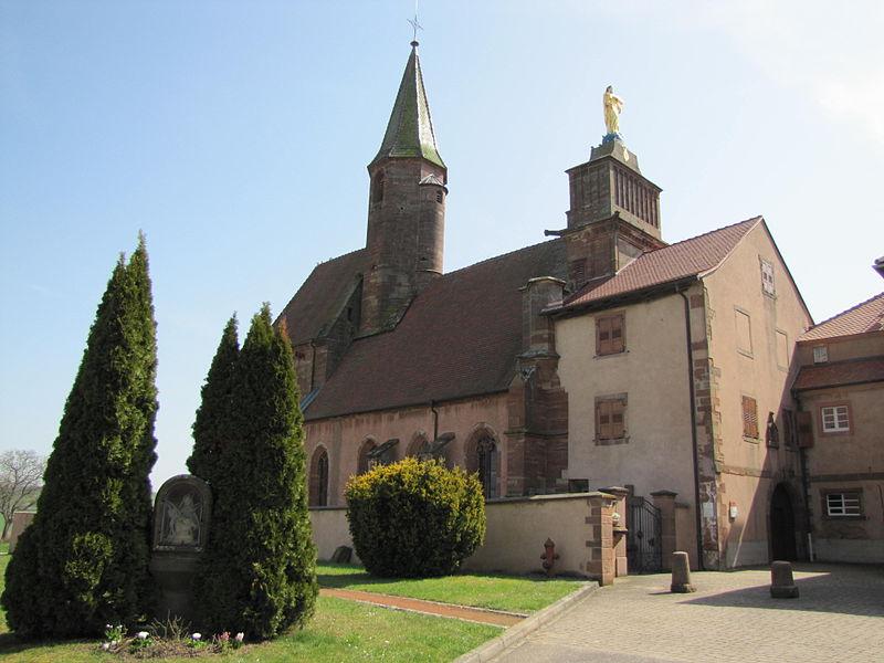 Photo du Monument Historique Eglise catholique de Reinacker situé à Reutenbourg