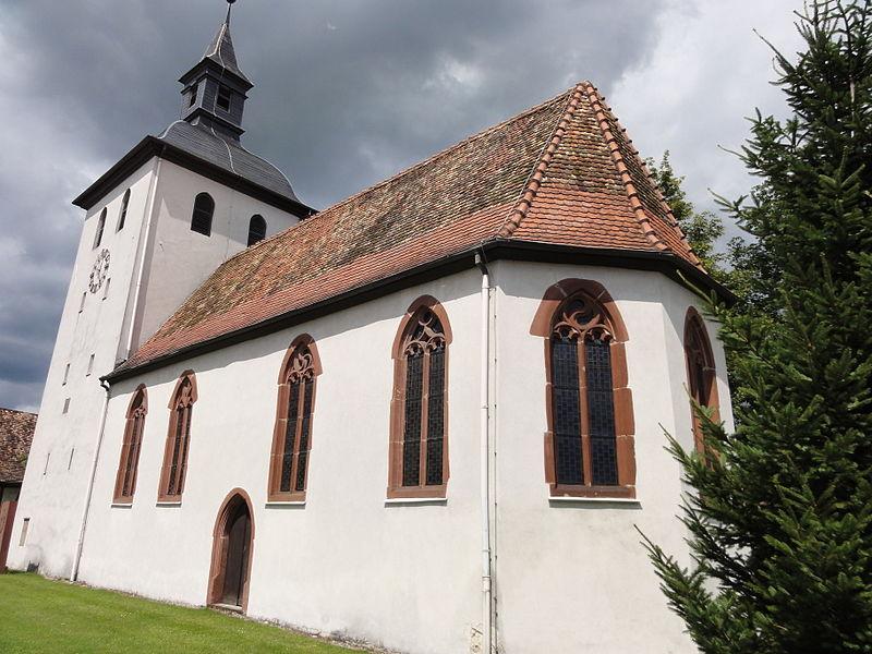 Photo du Monument Historique Eglise protestante situé à Roppenheim