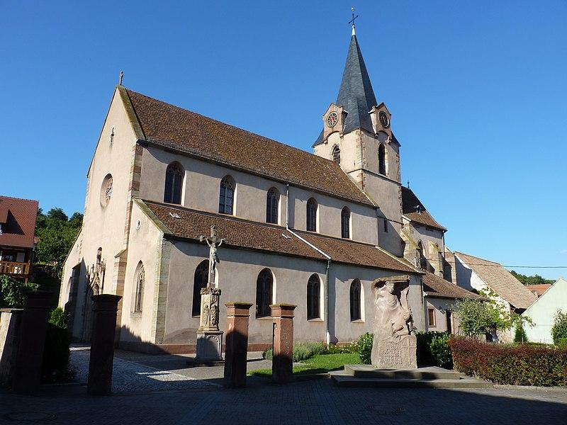 Photo du Monument Historique Eglise catholique de l'Assomption-de-la-Vierge situé à Rosenwiller