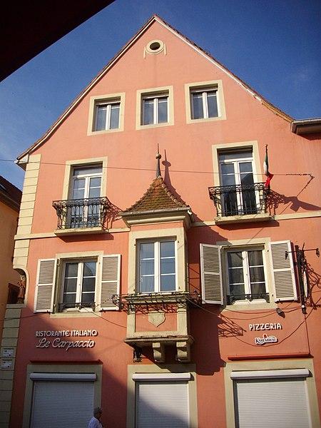 Photo du Monument Historique Hôtel du Boeuf Noir situé à Saverne