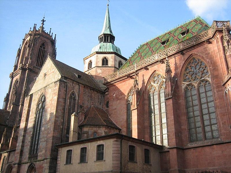 Photo du Monument Historique Ancienne cathédrale ou église Saint-Georges situé à Sélestat