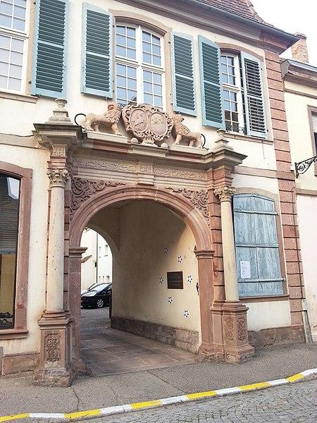 Photo du Monument Historique Ancien Hôtel du Prêteur Royal situé à Sélestat
