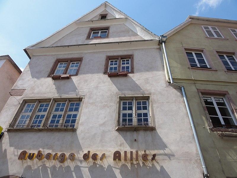 Photo du Monument Historique Maison, Auberge des Alliés situé à Sélestat