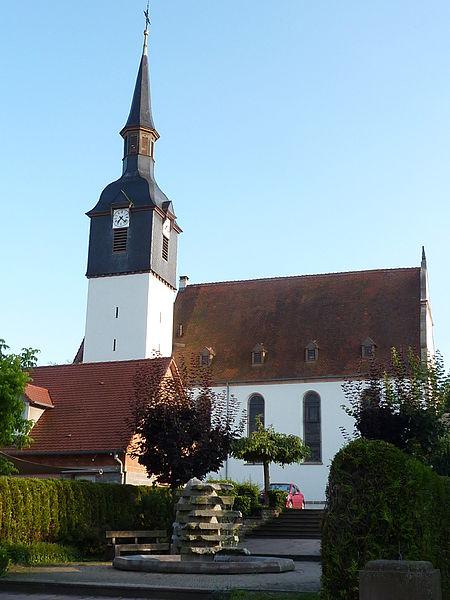 Photo du Monument Historique Eglise protestante situé à Soultz-sous-Forêts