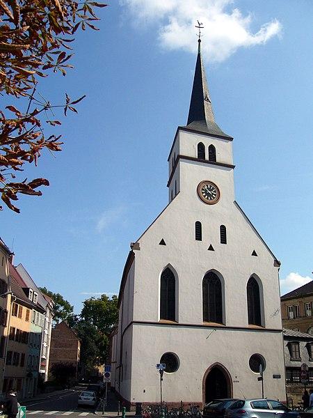 Photo du Monument Historique Eglise protestante Saint-Guillaume situé à Strasbourg