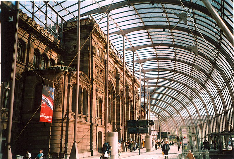 Photo du Monument Historique Gare ferroviaire centrale situé à Strasbourg