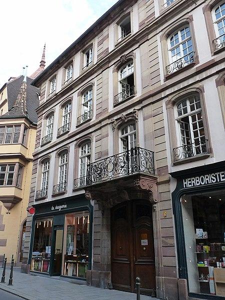 Photo du Monument Historique Ancien hôtel situé à Strasbourg