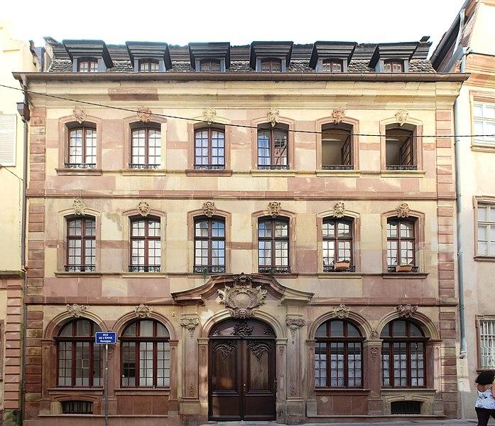 Photo du Monument Historique Hôtel de l'Epine situé à Strasbourg