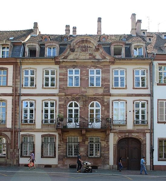 Photo du Monument Historique Ancien Hôtel de Franck situé à Strasbourg