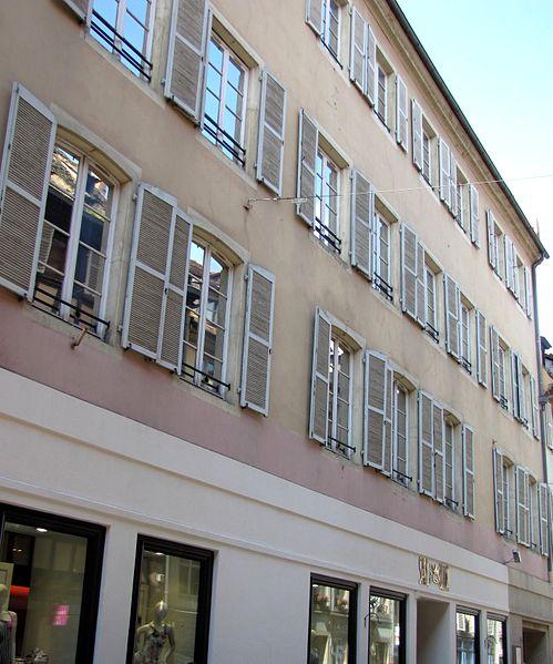 Photo du Monument Historique Ancien Hôtel des Joham de Mundolsheim situé à Strasbourg