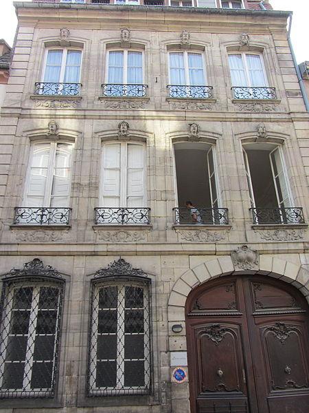 Photo du Monument Historique Ancien Hôtel de Marabail situé à Strasbourg