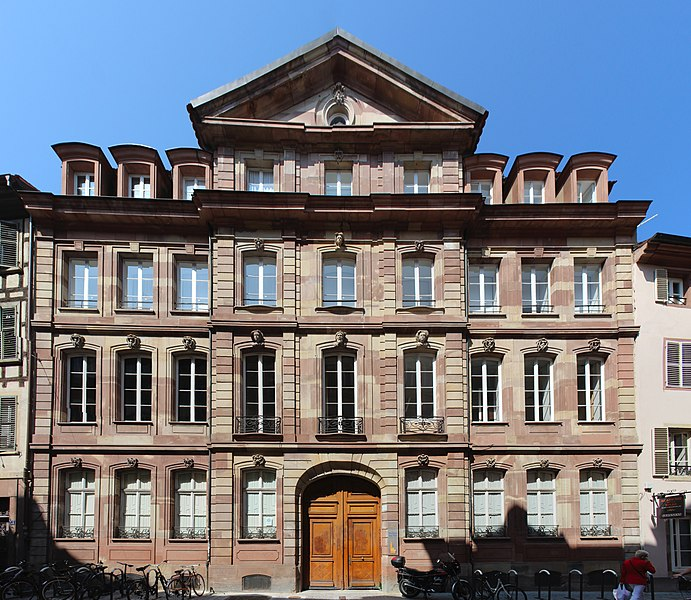 Photo du Monument Historique Ancien Hôtel de Saxe (ancien Hôtel de Purgerot de Wardener) situé à Strasbourg
