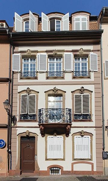 Photo du Monument Historique Ancienne Maison Baer situé à Strasbourg