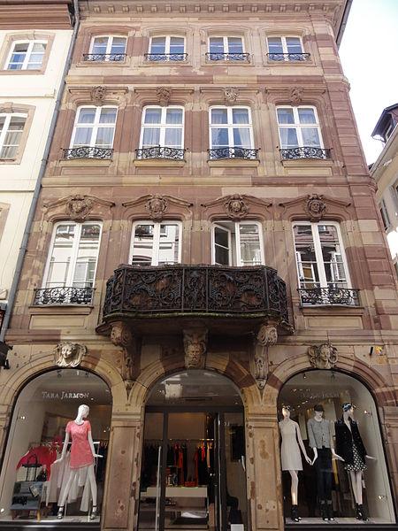 Photo du Monument Historique Maison Spach situé à Strasbourg
