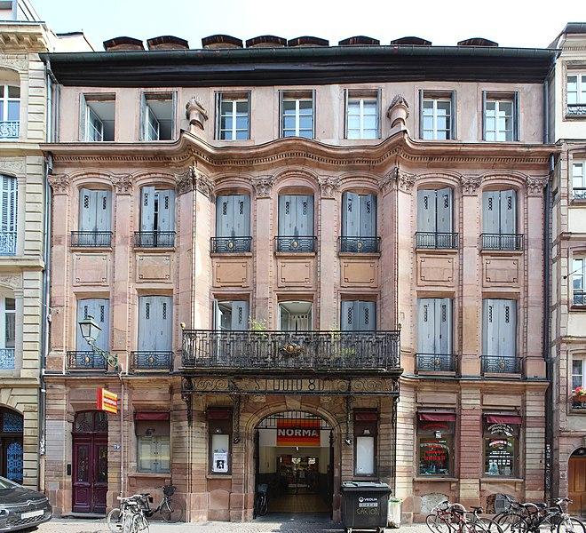 Photo du Monument Historique Maison Ferrier situé à Strasbourg