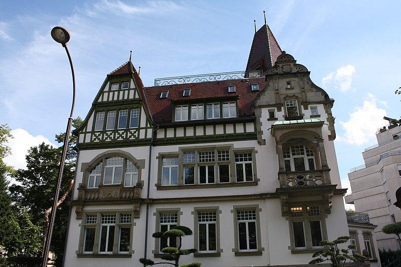Photo du Monument Historique Villa Osterloff situé à Strasbourg