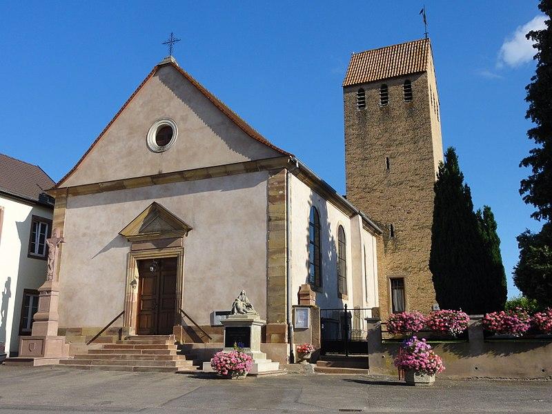 Photo du Monument Historique Eglise d'Offenheim situé à Stutzheim-Offenheim