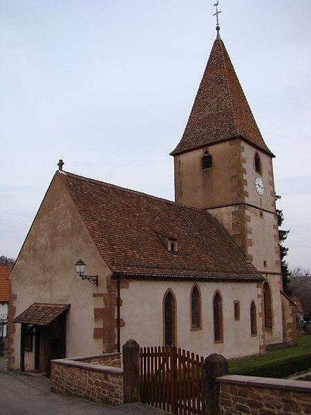 Photo du Monument Historique Eglise protestante situé à Weiterswiller