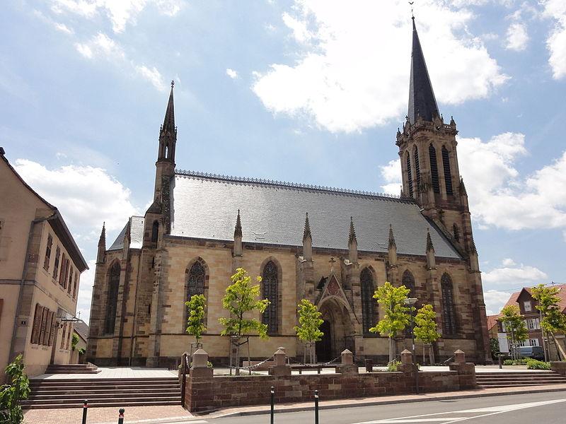Photo du Monument Historique Eglise protestante Saint-Martin situé à Westhoffen