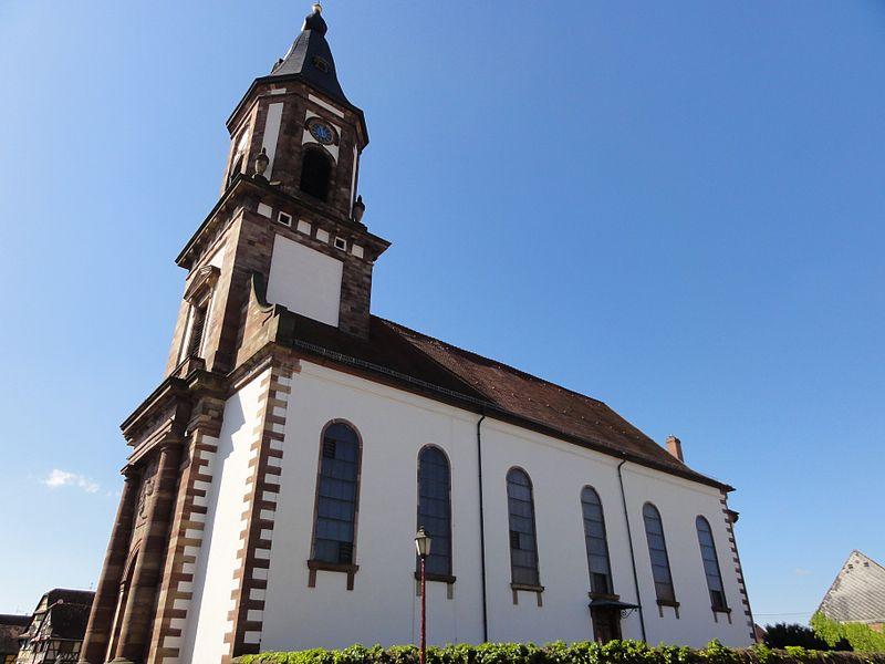 Photo du Monument Historique Eglise catholique Saint-Michel situé à Weyersheim