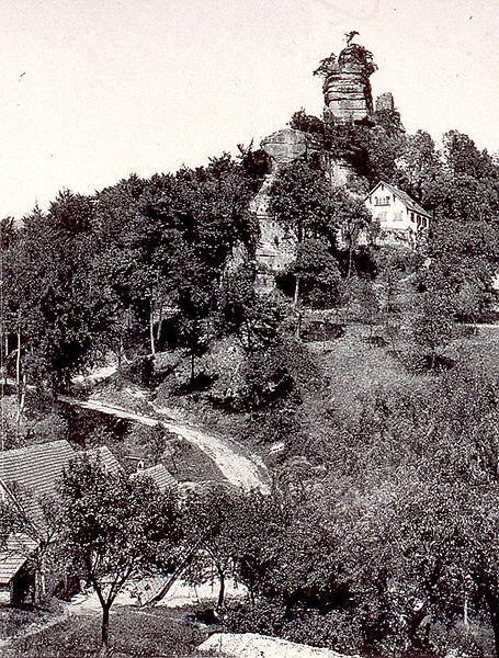 Photo du Monument Historique Ruines du château du Vieux-Windstein situé à Windstein