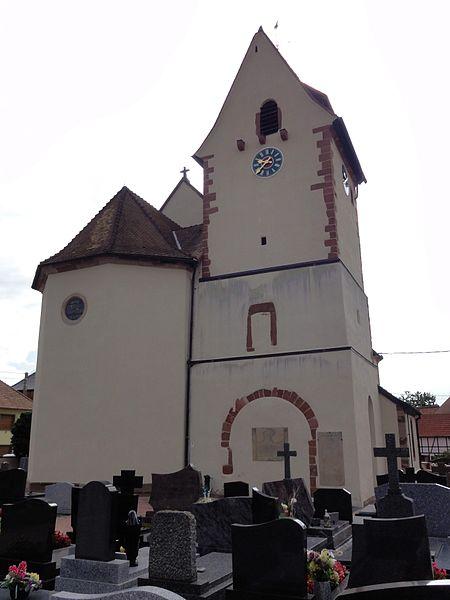 Photo du Monument Historique Eglise Saint-Nicolas situé à Wingersheim