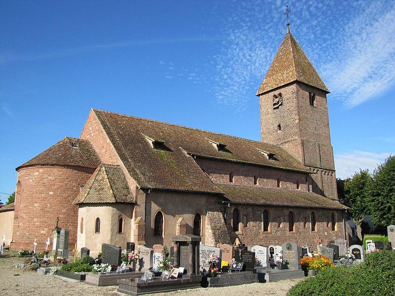 Photo du Monument Historique Eglise catholique Saint-Ulrich, ou église d'Altenstadt situé à Wissembourg