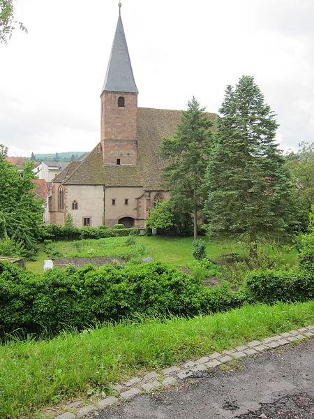 Photo du Monument Historique Eglise protestante Saint-Jean-l'Evangéliste situé à Wissembourg