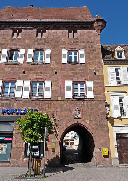 Photo du Monument Historique Ancienne Maison Bürgerhof situé à Wissembourg