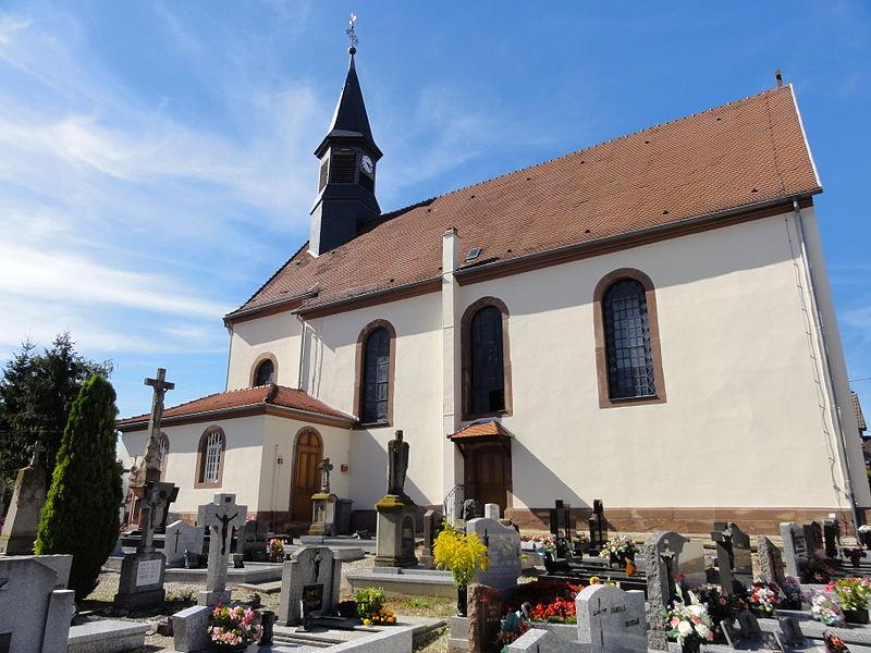 Photo du Monument Historique Eglise catholique Saint-Ulrich situé à Wittersheim