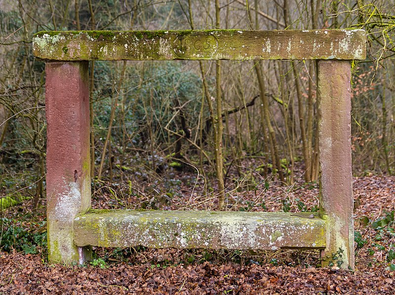 Photo du Monument Historique Banc-reposoir dit de L'Impératrice situé à Woerth