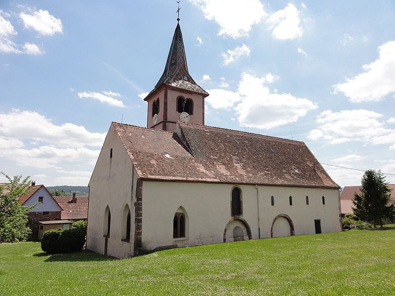 Photo du Monument Historique Eglise et cimetière de Balbronn situé à Balbronn