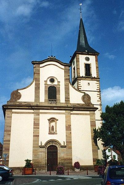 Photo du Monument Historique Eglise catholique Sainte-Marguerite situé à Geispolsheim