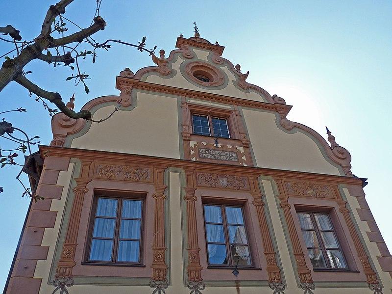 Photo du Monument Historique Maison dite Maison des Chevaliers situé à Wissembourg