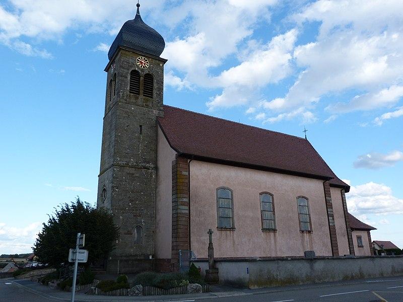 Photo du Monument Historique Eglise catholique Notre-Dame de l'Assomption situé à Eschwiller