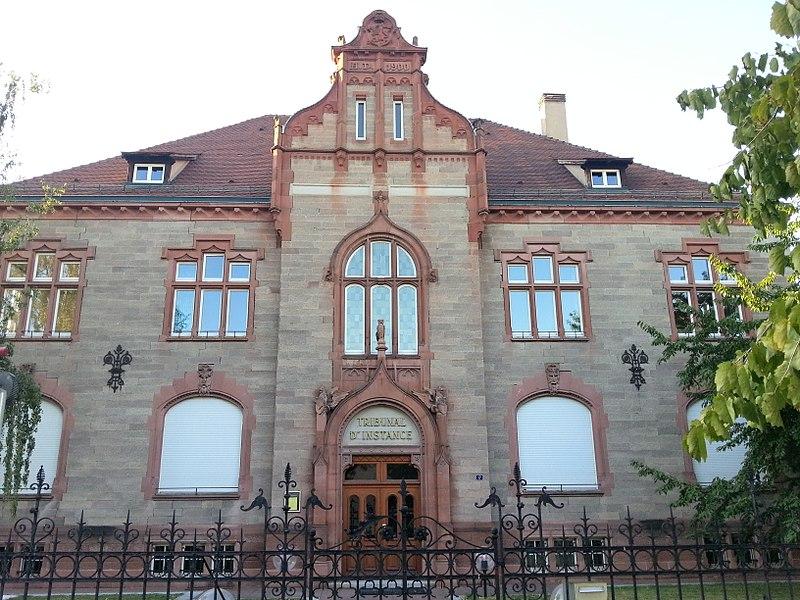 Photo du Monument Historique Tribunal d'Instance situé à Sélestat